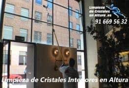 Vídeo de Limpieza de Cristales Interiores en Altura