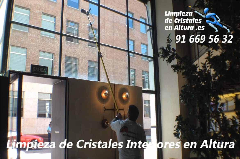 Imágenes y Vídeos - Limpieza de Cristales Interiores en Altura